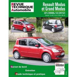REVUE TECHNIQUE RENAULT MODUS et GRAND MODUS de 2008 à 2012 - RTA B775 Librairie Automobile SPE 9782726877555