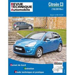 REVUE TECHNIQUE CITROEN C3 PHASE II DIESEL depuis 2010 - RTA B773 Librairie Automobile SPE 9782726877357