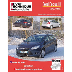 REVUE TECHNIQUE FORD FOCUS III DIESEL depuis 2011 - RTA B771 Librairie Automobile SPE 9782726877159