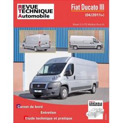 REVUE TECHNIQUE FIAT DUCATO III DIESEL depuis 2011 - RTA B768 Librairie Automobile SPE 9782726876855