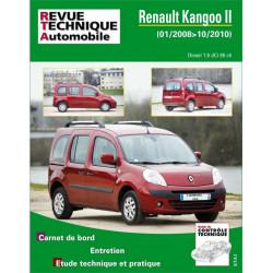 REVUE TECHNIQUE RENAULT KANGOO II DIESEL de 2008 à 2010 - RTA B765 Librairie Automobile SPE 9782726876558