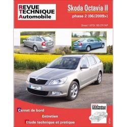 REVUE TECHNIQUE SKODA OCTAVIA II DIESEL PHASE 2 depuis 2009 - RTA B763 Librairie Automobile SPE 9782726876350