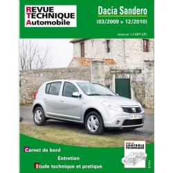 REVUE TECHNIQUE DACIA SANDERO ESSENCE de 2009 à 2010 - RTA B761 Librairie Automobile SPE 9782726876152