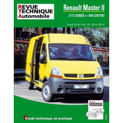 REVUE TECHNIQUE RENAULT MASTER II PHASE 2 de 2003 à 2010 - RTA B760 Librairie Automobile SPE 9782726876053