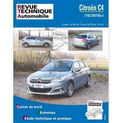 REVUE TECHNIQUE CITROEN C4 II DIESEL depuis 2010 - RTA B759 Librairie Automobile SPE 9782726875957