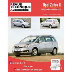 REVUE TECHNIQUE RENAULT OPEL ZAFIRA II de 2005 à 2010 - RTA B758 Librairie Automobile SPE 9782726875858