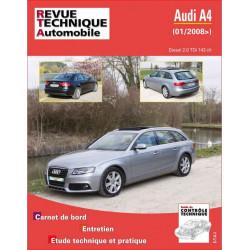 REVUE TECHNIQUE AUDI A4 PHASE 3 DIESEL depuis 2008 - RTA B757 Librairie Automobile SPE 9782726875759