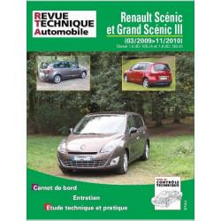 REVUE TECHNIQUE RENAULT SCENIC ET GRAND SCENIC III de 2009 à 2010- RTA B756 Librairie Automobile SPE 9782726875650