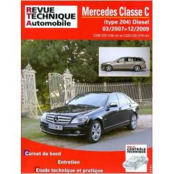 REVUE TECHNIQUE MERCEDES CLASSE C DIESEL de 2007 à 2009 - RTA B753 Librairie Automobile SPE 9782726875353