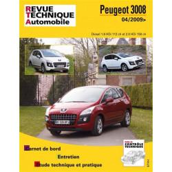 REVUE TECHNIQUE PEUGEOT 3008 DIESEL depuis 2009- RTA B752 Librairie Automobile SPE 9782726875254