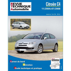 REVUE TECHNIQUE CITROEN C4 ESSENCE de 2004 à 2008 - RTA B750 Librairie Automobile SPE 9782726875056
