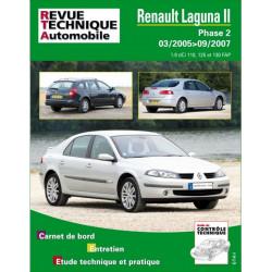 REVUE TECHNIQUE RENAULT LAGUNA II PHASE 2 de 2005 à 2007 - RTA B748 Librairie Automobile SPE 9782726874851
