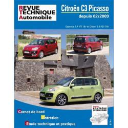 REVUE TECHNIQUE CITROEN C3 PICASSO Ess et Die DEPUIS 2009 - RTA B745 Librairie Automobile SPE 9782726874554