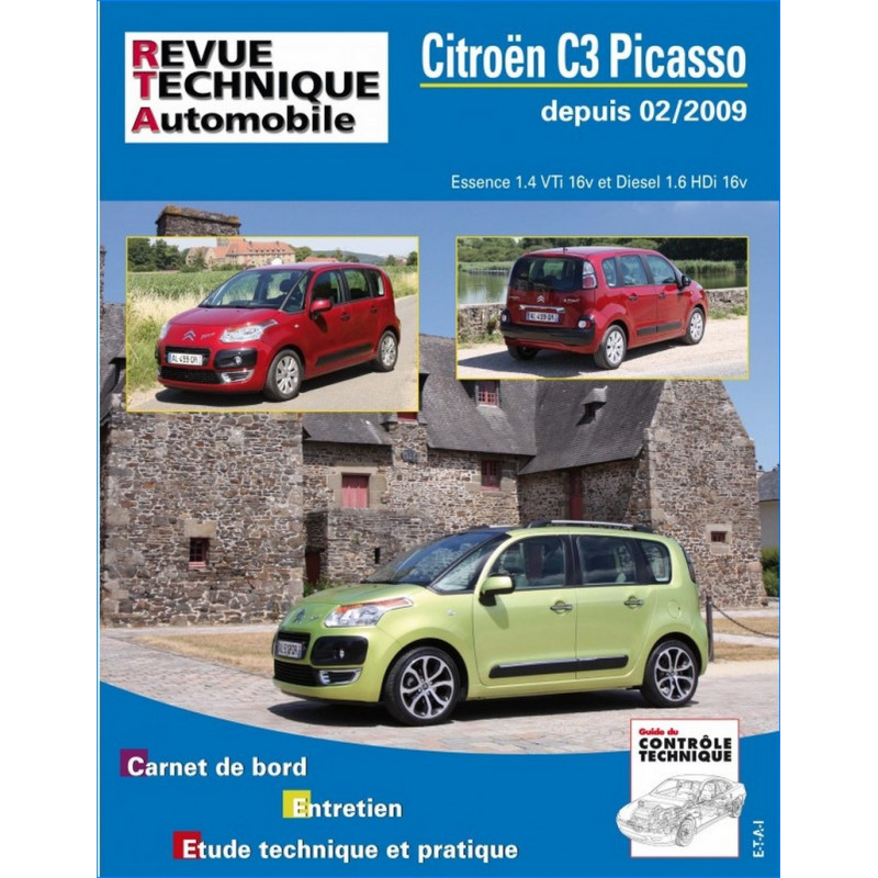revue technique citroen c3 picasso rta b745 9782726874554. Black Bedroom Furniture Sets. Home Design Ideas