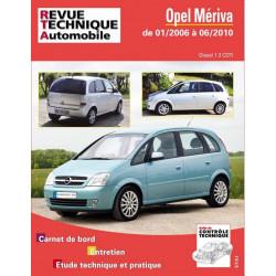 REVUE TECHNIQUE OPEL MERIVA DIESEL de 2006 à 2010 - RTA B743 Librairie Automobile SPE 9782726874356