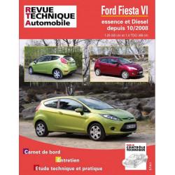 REVUE TECHNIQUE FORD FIESTA VI ESSENCE et DIESEL DEPUIS 2008 - RTA B742 Librairie Automobile SPE 9782726874257