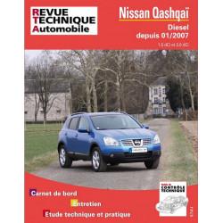 REVUE TECHNIQUE NISSAN QASHQAI DIESEL DEPUIS 2007 - RTA B741 Librairie Automobile SPE 9782726874158