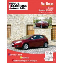 REVUE TECHNIQUE FIAT BRAVO DIESEL DEPUIS 2007 - RTA B740 Librairie Automobile SPE 9782726874059
