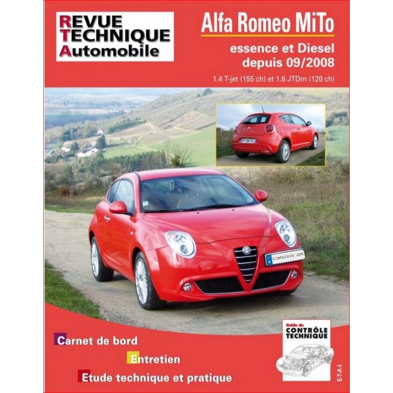 REVUE TECHNIQUE ALFA ROMEO MITO DEPUIS 2008 - RTA B738 Librairie Automobile SPE 9782726873854