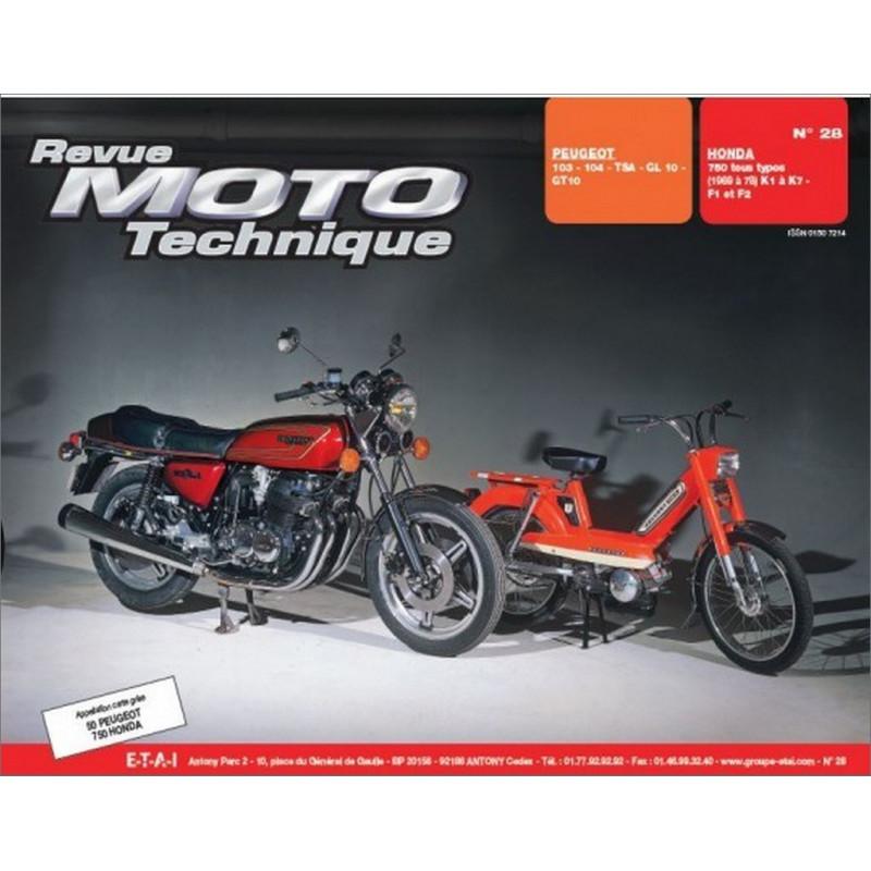 REVUE MOTO TECHNIQUE HONDA CB 750 TOUS TYPES de 1969 à 1978 - RMT 28 Librairie Automobile SPE 9782726890219