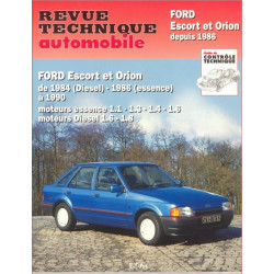 REVUE TECHNIQUE FORD ESCORT et FORD ORION de 1984 à 1990 - RTA 736 Librairie Automobile SPE 9782726873618