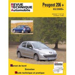 REVUE TECHNIQUE PEUGEOT 206 + ESSENCE et DIESEL DEPUIS 2009 - RTA B735 Librairie Automobile SPE 9782726873557