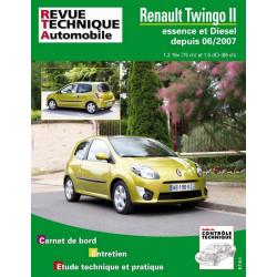 REVUE TECHNIQUE RENAULT TWINGO II ESSENCE et DIESEL DEPUIS 2007 - RTA B733 Librairie Automobile SPE 9782726873359