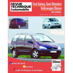 REVUE TECHNIQUE VOLKSWAGEN SHARAN PHASE 2 DIESEL DEPUIS 2000 - RTA B732 Librairie Automobile SPE 9782726873250
