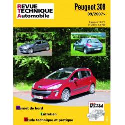 REVUE TECHNIQUE PEUGEOT 308 ESSENCE et DIESEL DEPUIS 2007 - RTA B731 Librairie Automobile SPE 9782726873151