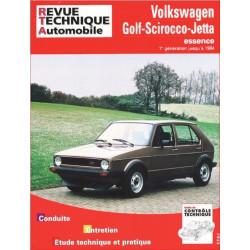 REVUE TECHNIQUE VOLKSWAGEN GOLF SCIROCCO ET JETTA de 1974 à 1984 - RTA 731 Librairie Automobile SPE 9782726873113