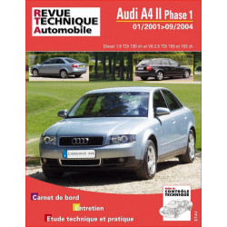 REVUE TECHNIQUE AUDI A4 II PHASE 1 DIESEL de 2001 à 2004 - RTA B730 Librairie Automobile SPE 9782726873052