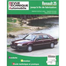 REVUE TECHNIQUE RENAULT 25 ESSENCE et DIESEL - RTA 730 Librairie Automobile SPE 9782726873014