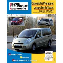 REVUE TECHNIQUE CITROEN JUMPY DIESEL DEPUIS 2007 - RTA B728 Librairie Automobile SPE 9782726872857