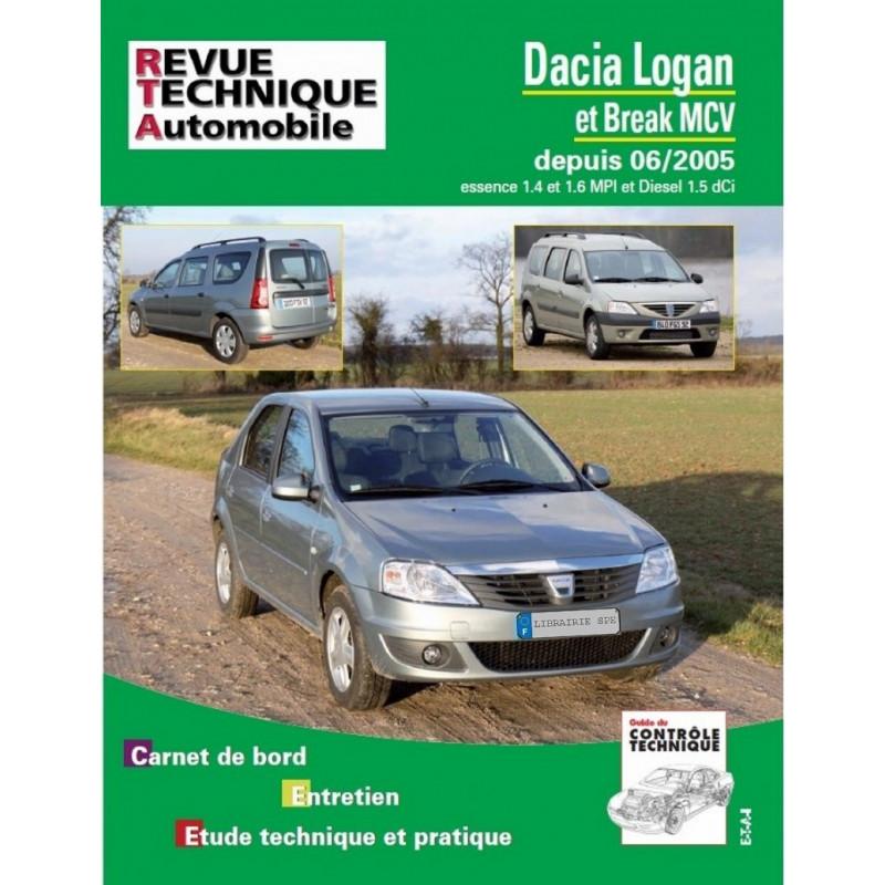 REVUE TECHNIQUE DACIA LOGAN et BREAK MCV DEPUIS 2005 - RTA B727 Librairie Automobile SPE 9782726872758