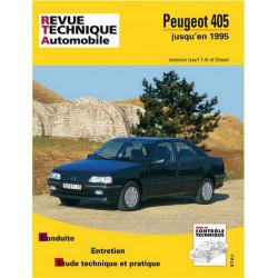 REVUE TECHNIQUE PEUGEOT 405 ESSENCE et DIESEL JUSQU'A 1995 - RTA 726 Librairie Automobile SPE 9782726872611