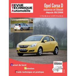 REVUE TECHNIQUE OPEL CORSA D ESEENCE et DIESEL DEPUIS 2006- RTA B725 Librairie Automobile SPE 9782726872550