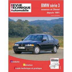 REVUE TECHNIQUE BMW SERIE 3 ESSENCE et DIESEL de 1991 à 1996 - RTA 725 Librairie Automobile SPE 9782726872512