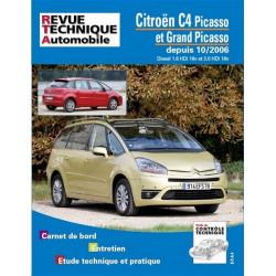 REVUE TECHNIQUE CITROEN C4 PICASSO DIESEL DEPUIS 2006 - RTA B723 Librairie Automobile SPE 9782726872369