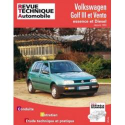 REVUE TECHNIQUE VOLKSWAGEN GOLF III ET VENTO de 1992 à 1996 - RTA 720 Librairie Automobile SPE 9782726872024