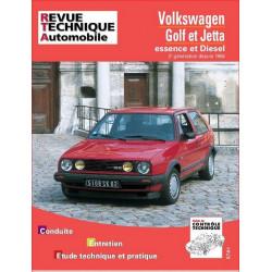 REVUE TECHNIQUE VOLKSWAGEN GOLF II ET VENTO de 1984 à 1992 - RTA 719 Librairie Automobile SPE 9782726871911