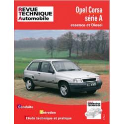 REVUE TECHNIQUE OPEL CORSA A ESSENCE et DIESEL de 1982 à 1993 - RTA 718 Librairie Automobile SPE 9782726871812