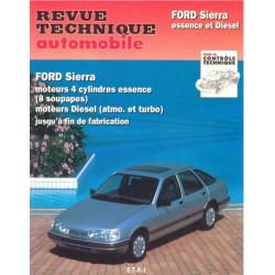 REVUE TECHNIQUE FORD SIERRA ESSENCE et DIESEL - RTA 716 Librairie Automobile SPE 9782726871614