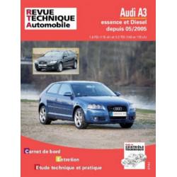 REVUE TECHNIQUE AUDI A3 ESSENCE et DIESEL DEPUIS 2005 - RTA B715 Librairie Automobile SPE 9782726871560