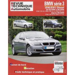REVUE TECHNIQUE BMW SERIE 3 DIESEL (E90/E91) de 2005 à 2008 - RTA B712 Librairie Automobile SPE 9782726871263
