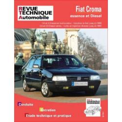 REVUE TECHNIQUE FIAT CROMA ESSENCE ET DIESEL - RTA 712 Librairie Automobile SPE 9782726871218
