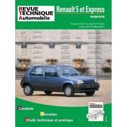 REVUE TECHNIQUE RENAULT 5 ET EXPRESS ESSENCE - RTA 711 Librairie Automobile SPE 9782726871119
