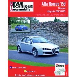REVUE TECHNIQUE ALFA ROMEO 159 DIESEL DEPUIS 2005 - RTA B710 Librairie Automobile SPE 9782726871065