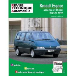REVUE TECHNIQUE RENAULT ESPACE de 1984 à 1996 - RTA 709 Librairie Automobile SPE 9782726870914