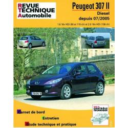 REVUE TECHNIQUE PEUGEOT 307 II DIESEL DEPUIS 2005 - RTA B707 Librairie Automobile SPE 9782726870754