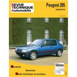 REVUE TECHNIQUE PEUGEOT 205 ESSENCE de 1984 à 1997 - RTA 707 Librairie Automobile SPE 9782726870716